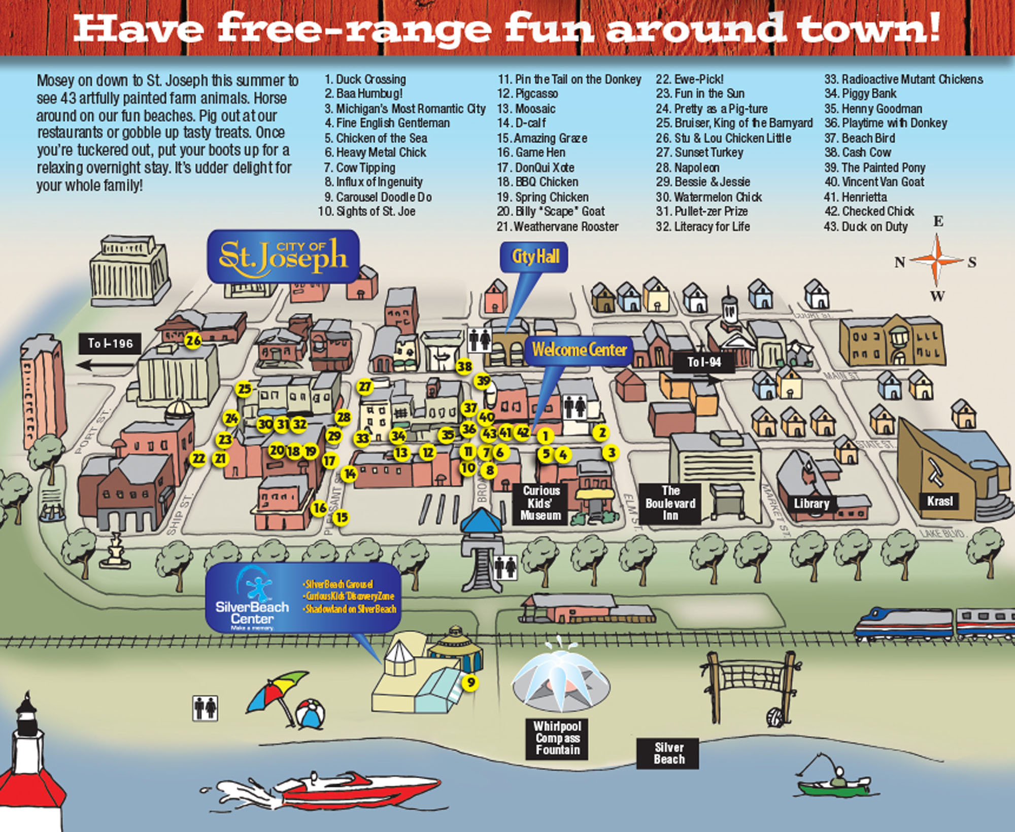 2011 Barnyard at the Beach map